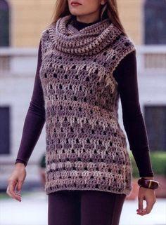 Crochet Tunic Vest Pattern – Stylish & Easy- 20 Stylish Crochet Sweater Vest Design | DIY to Make