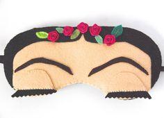 Grumpy Cat Sleep Mask Animal Eye Mask White and Brown Sleeping Mask Wool Felt…
