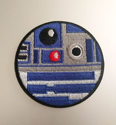 "R2D2 Circle Star Wars Iron On Patch 3"" Free Shipping US Seller"
