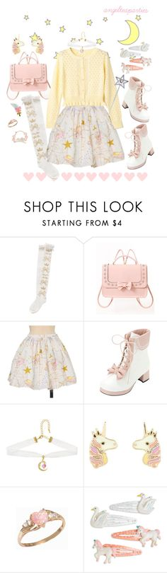 """""""Named from the beautiful flower that blooms in the spring"""" by angelteaparties ❤ liked on Polyvore featuring cutekawaii and Accessorize"""