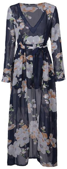 Giant flower bounces back and forth! This v-neck floral dress is detailed with sash&flowy piece! Collect it at Cupshe.com