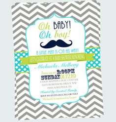 Little man mustache baby shower invitations babies shower mustache baby shower invitation retro baby by papercleverparty filmwisefo