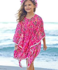 Look at this #zulilyfind! Pink Floral Cover-Up - Girls #zulilyfinds