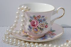 Antique Royal Grafton Tea cup and Saucer. English by EcoIdeology