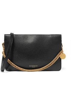 Givenchy - GV textured-leather and suede shoulder bag af2fdfecca814