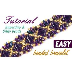 Free video-tutorial by Anchik - Bacelet with SuperDuo and Silky beads