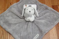 Blankets & Beyond Adorable Nunu Security Blanket ~ White Rabbit ~Gray Blanket ~ #BabyBlanketsandBeyond