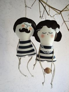Old fashioned Fragrant Man and his Wife - Handmade in Italy