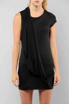 Kai-aakmann Draped Back Dress in Black $37 at www.tobi.com