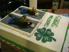 4-H Riflry/Shooting Sports Cake - so cool