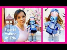 """▶ Tutorial muñeca de tela """"estilo Gorjuss"""" y SORTEO, manualidades faciles para regalar o para vender - YouTube"""
