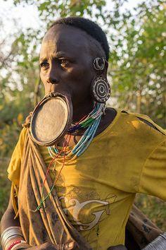 Surma tribe . Ethiopia