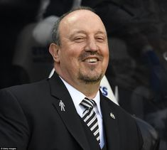 The Newcastle boss cuts a relaxed and happy figure on the touchline at St James' Park as the match gets underway on Sunday Dwight Gayle, Newcastle United Football, Antonio Conte, St James' Park, Fa Cup, Black N White, Big Game, Chelsea, Legends