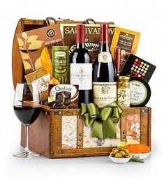 Luxury Wine Baskets: Around the World Wine Chest