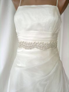 Elegant Rhinestone Ivy Beaded Wedding Dress Sash Belt.  39.50 d9c15a38afe0