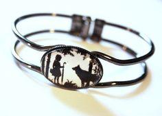 Silhouette Bracelet cuff  Little red rinding hood by karamboola, $19.90
