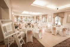 Photo of the wedding reception at the Dryburgh Abbey hotel