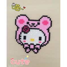 Hello Kitty perler beads by lovecraft1102