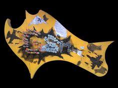 The bombing of GNP // GSMH'ın bombalanışı *  * for the awful memory of Roboski massacre // Roboski katliamının rezil hatıratına    71x46x14 cm,  mixed media on CNC-MDF  2011-2012 Carnivals, Deconstruction, Perception, Cnc, Music Instruments, Carnavals, Musical Instruments, Carnival