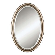 Shop Uttermost Petite Manhattan Champagne Silver Leaf Oval Mirror - 21.25x31.25x1 - Overstock - 7672672