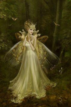 Glow...#fairy #faerie #fantasy #art #gold