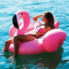 """150CM Giant """"Flamingo"""" Inflatable Pool Float Beach Toys Inflatable Mattress Mat Air Swimming Ring Circle Water Game Buoy"""