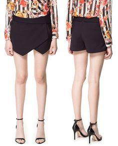 HOT Women Shorts Wrap Mini Skirts With Invisible Zipper Irregular Skort O   eBay