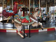VACATION:  Another of wonderful carousel animals at Broadway on the Beach.