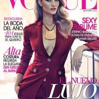 Rosie Huntington-Whiteley Rocks Versace Pantsuit for Vogue Mexico November 2014 Cover