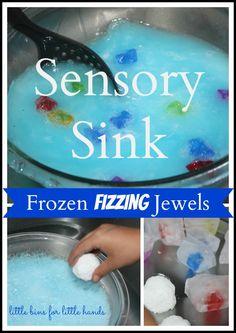 Frozen Fizzing Jewels Sensory Sink