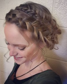 """89 Likes, 8 Comments - Willow and Heather (@thebraidedsisters) on Instagram: """"Combo braided updo based on @amberfillerup 's mixed fishtail and dutch braid messy bun. I pinned…"""""""