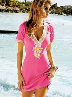 Just ordered this in purple! Embellished v-neck dress, Victoria's Secret