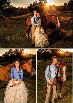 fashion shoot engagement session with horse and dramatic light photography
