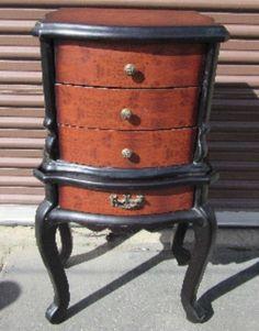 Classic Mahogany 4-Drawer Wood Chest; Vanity W/Brass Knob -Furniture