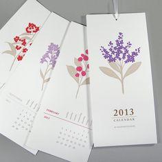 2013 Calendar - Floral