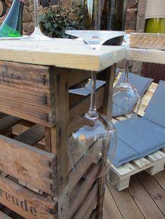 DIY Weinkiste Glashalter