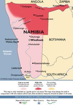 Namibia Malaria Map