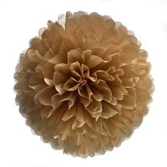 """Beautyful Tissuepaper Pompoms, Color """"Cappuccino""""choose from 4 sizes, great for weddings, partys, babyshowers and garden decoration! von Pompompous auf Etsy https://www.etsy.com/de/listing/190440616/beautyful-tissuepaper-pompoms-color"""
