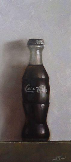Original Oil Painting - Coca Cola - Retro Still Life Art - Nelson