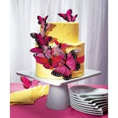Bring the captivating flight of the butterfly to life with our stunning assortment of decorative cake ornaments. The carefully selected variations in size and design are ideal to create a delicate fluttering effect on your cake tiers. Visit www.angelicweddings.co.uk if you wish to purchase this product.