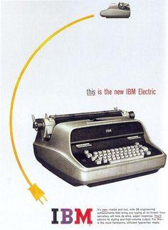 1960 IBM Electric Typewriter -- Loved this typewriter! Technology Posters, Technology Hacks, Technology Gifts, Technology Wallpaper, Computer Technology, Technology Apple, Technology Background, Technology Design, Technology Logo