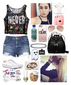 """Me And Lauren Being Bored..."" by xxjerriexx ❤ liked on Polyvore featuring Chicnova Fashion, PhunkeeTree, Casetify, H&M, Napoleon Perdis, Yves Saint Laurent, Kate Spade, Sara M. Lyons, Topshop and Converse"