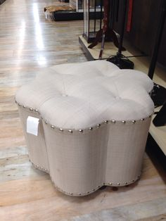 Ottoman with nailheads. Home Goods Store, Ottoman, Bedroom, Furniture, Home Decor, Homemade Home Decor, Bedrooms, Home Furnishings, Interior Design