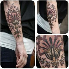 Jacobean embroidery, Kirsten Holliday, Wonderland Tattoo, Portland, OR #ink #tattoo