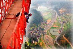 The Aizhai suspension bridge in China – in pictures