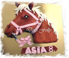 Horse head 2D cake
