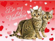 Very cute valentines card! Francien van Westering Franciens Katten
