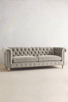 Velvet Lyre Chesterfield Sofa - anthropologie.com