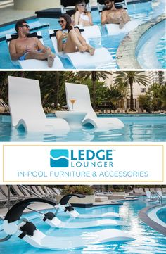 Ledge Lounger in-pool furniture is designed for in water use on your pool's tanning ledge. Stylish, durable, and high quality, Ledge Lounger enhances any pool scene.