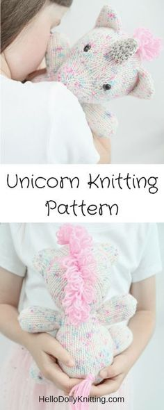 Sprinkles the Unicorn PDF Knitting Pattern Today I wanted to share with you one of my favourite patterns I've designed to date…. Sprinkles the Unicorn! Sprinkles is about inches tall, in a sitting position. Sprinkles i… Unicorn Knitting Pattern, Knitting Patterns Free, Free Knitting, Crochet Patterns, Knitting Ideas, Stitch Patterns, Knitting Toys, Crochet Unicorn, Knitting Needles